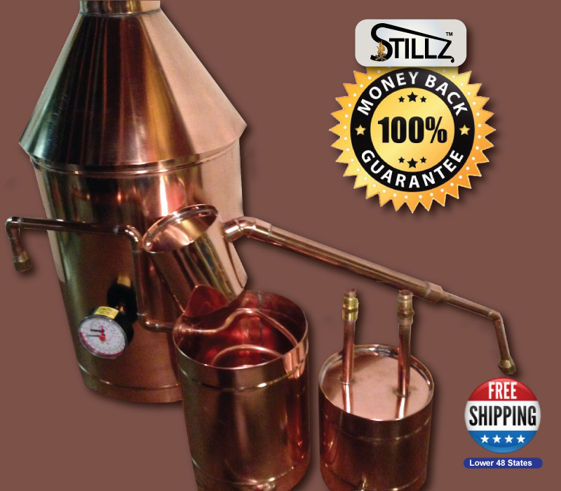 Discount Stillz 25 Gallon - Heavy Copper Moonshine Still